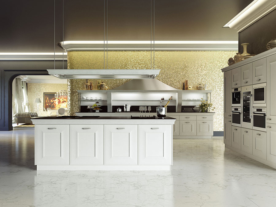 Modello di cucina classica bianca n.08