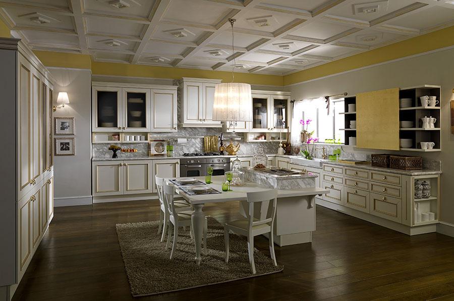 Modello di cucina classica bianca n.11