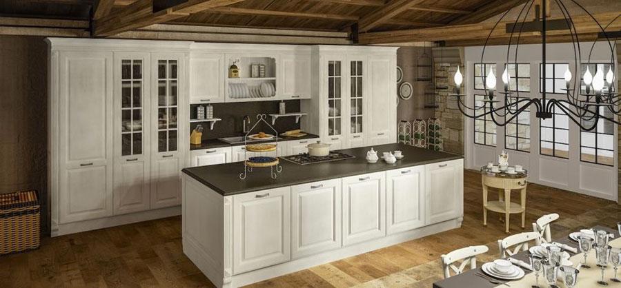 Modello di cucina classica bianca n.15