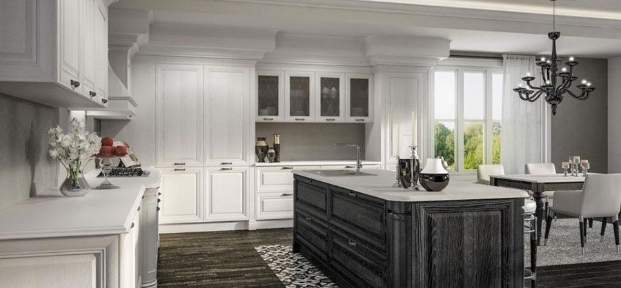 Modello di cucina classica bianca n.16