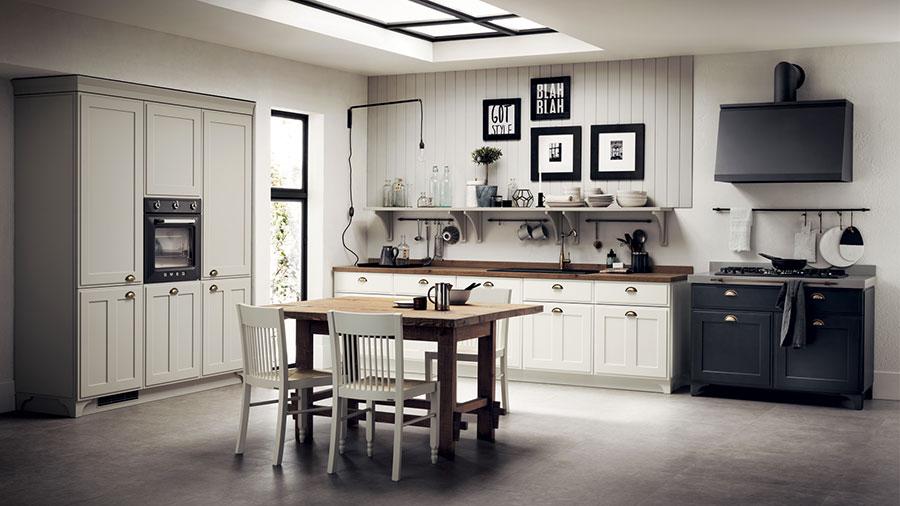 Modello di cucina classica bianca n.18