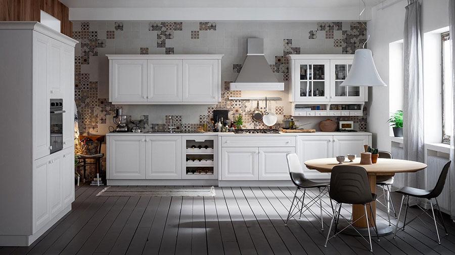 Modello di cucina classica bianca n.20