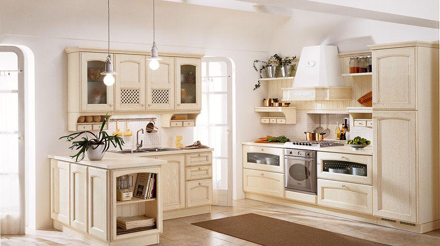 Modello di cucina classica bianca n.21