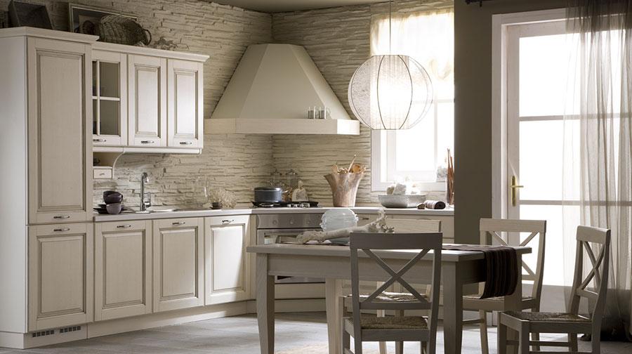 Modello di cucina classica bianca n.22
