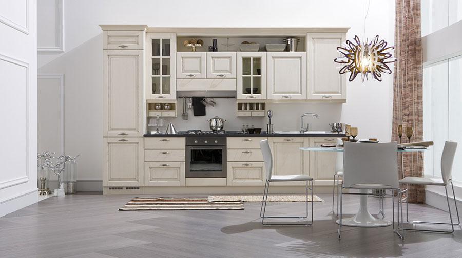 Modello di cucina classica bianca n.23
