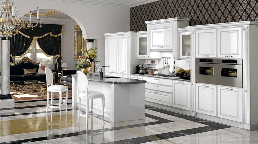 Modello di cucina classica bianca n.25
