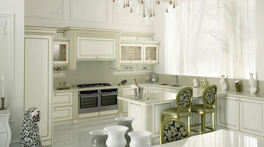 Modello di cucina classica bianca n.26