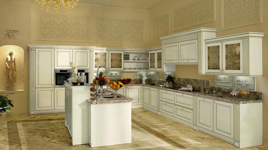 Modello di cucina classica bianca n.27