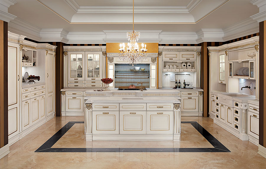 Awesome Cucina Classica Bianca Pictures - Amazing House Design ...