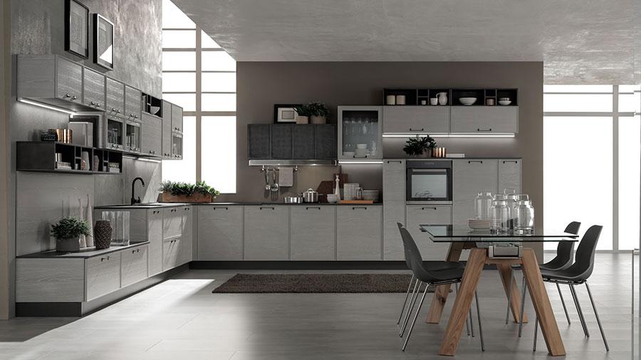 Idee per arredare una cucina grigia chiara n.01