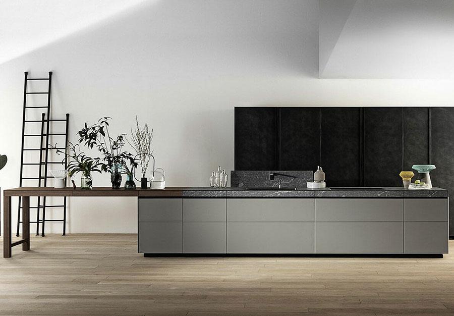 Idee per arredare una cucina grigia e nera n.01