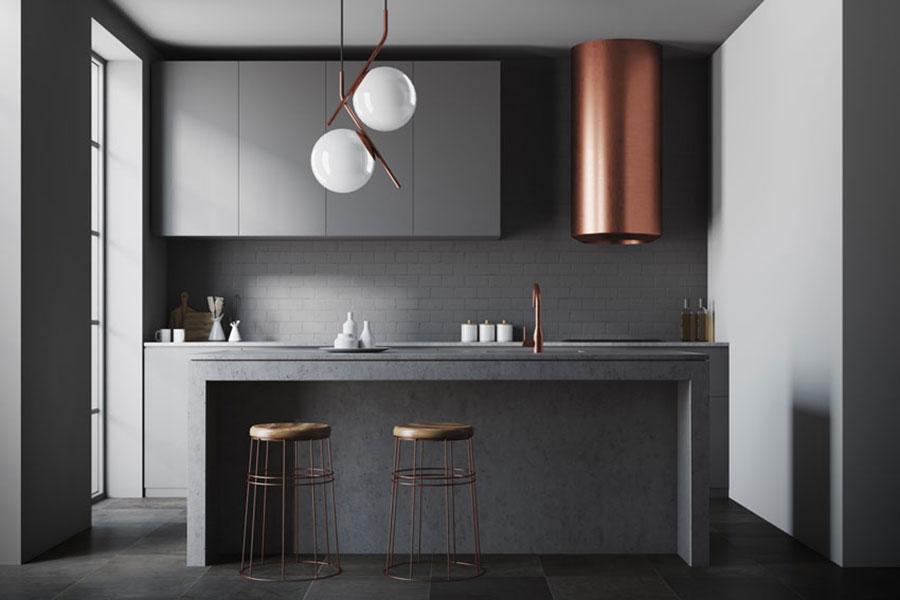 Idee per arredare una cucina grigia scura n.02