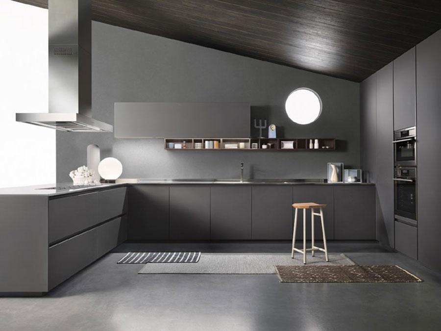 Idee per arredare una cucina grigia scura n.05