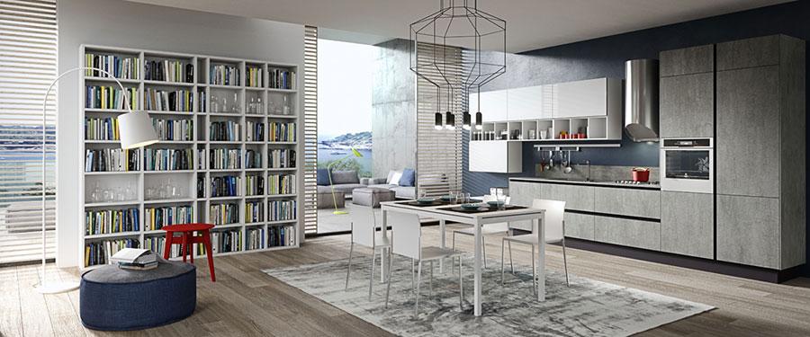 Modello di cucina grigia moderna di Aran n.01