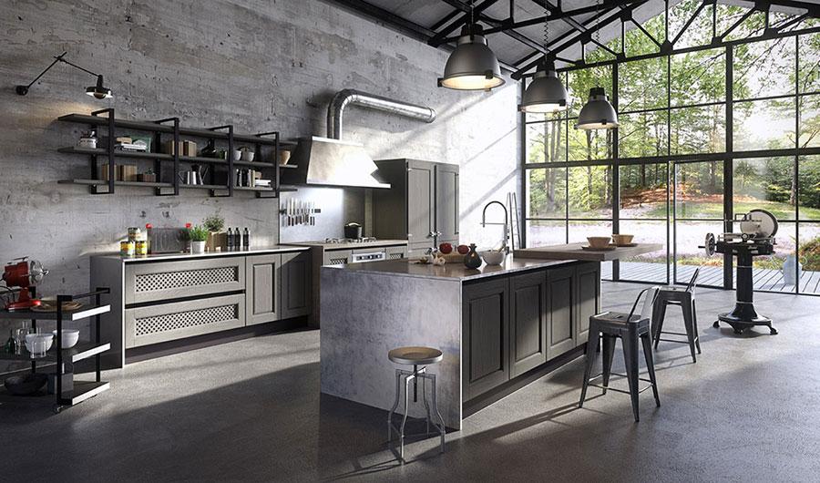 Modello di cucina grigia moderna di Aran n.02