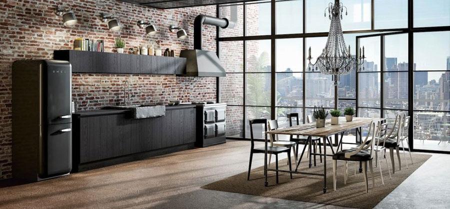 Modello di cucina grigia moderna di Berloni n.01