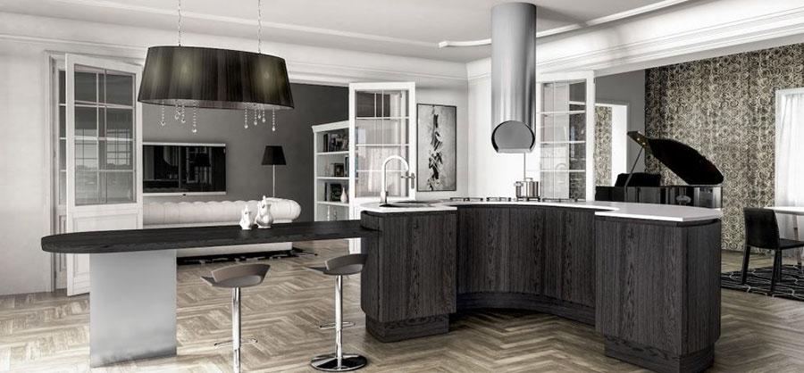 Modello di cucina grigia moderna di Berloni n.02