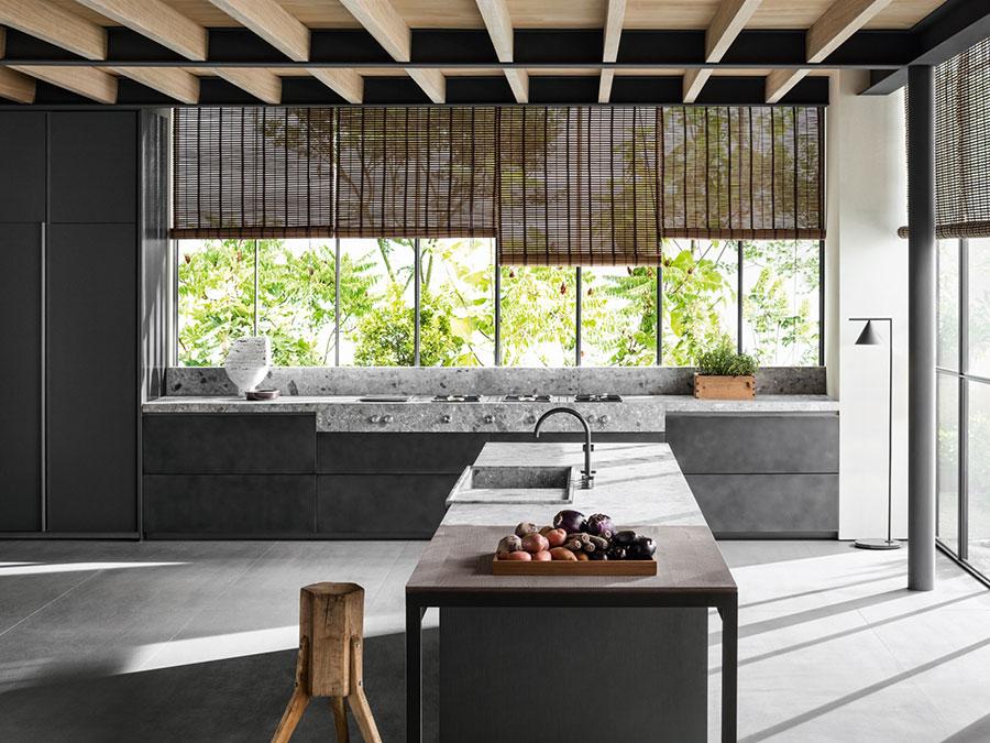 Modello di cucina grigia moderna di Dada n.01