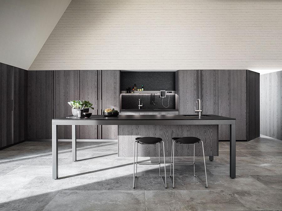 Modello di cucina grigia moderna di Dada n.02