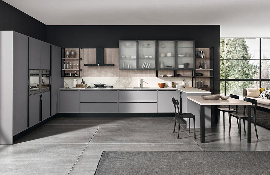 Modello di cucina grigia moderna di Febal n.01