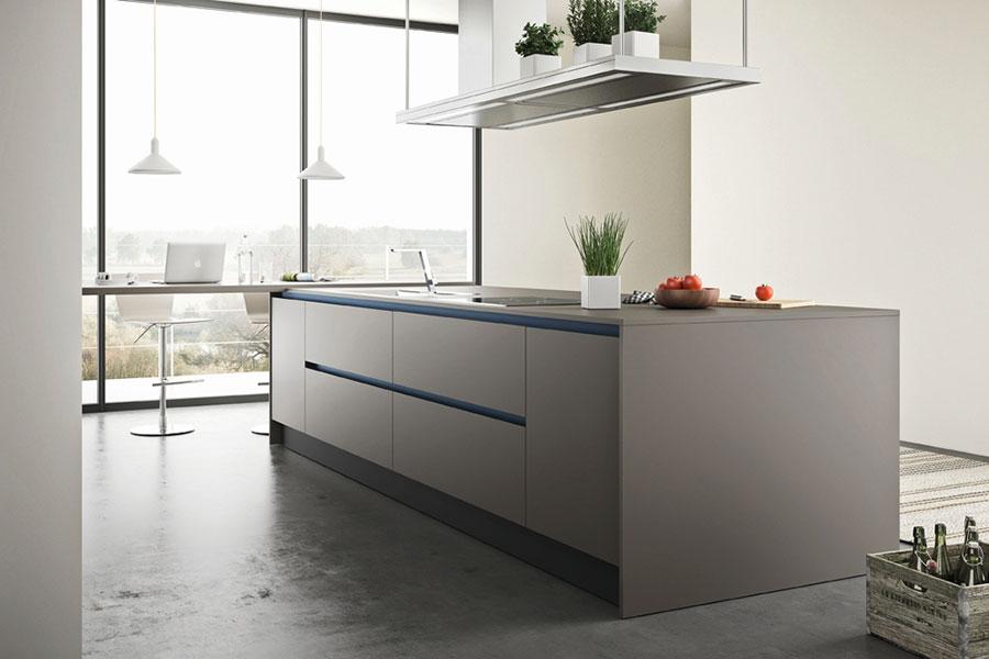 Modello di cucina grigia moderna di Febal n.02