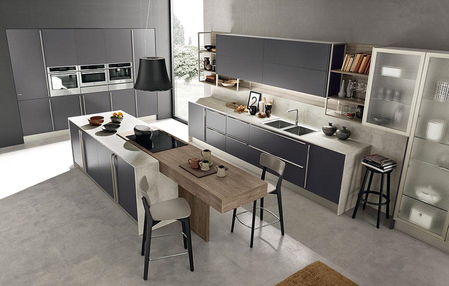 Modello di cucina grigia moderna di Febal n.03