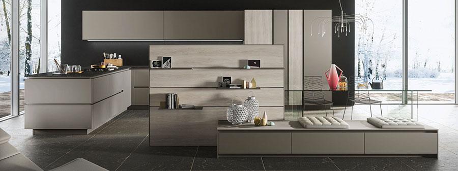 Modello di cucina grigia moderna di Snaidero n.01