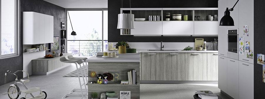 Modello di cucina grigia moderna di Snaidero n.04