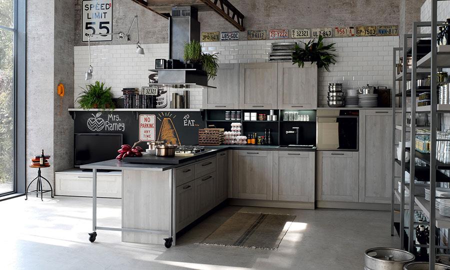 Modello di cucina grigia moderna di Stosa n.01