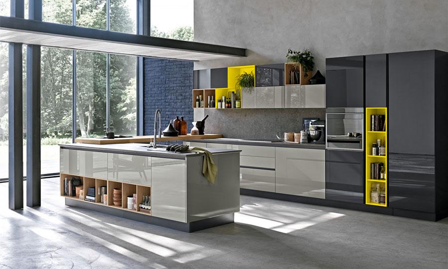 Modello di cucina grigia moderna di Stosa n.02