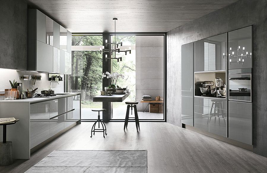 Modello di cucina grigia moderna di Stosa n.03