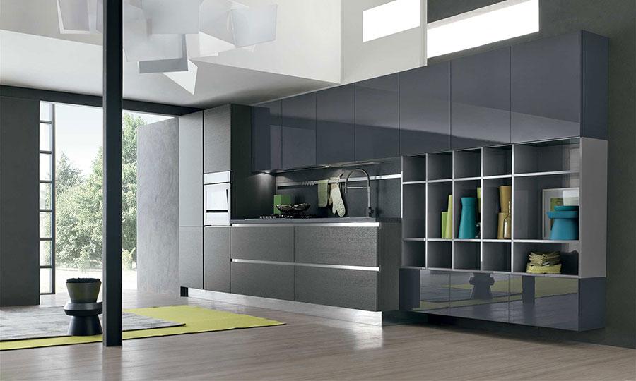 Modello di cucina grigia moderna di Stosa n.04