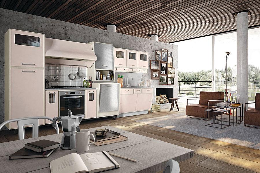 Modello di cucina vintage stile anni '50 n.04