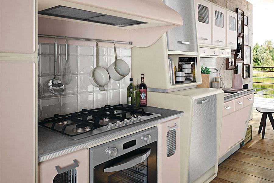 Modello di cucina vintage stile anni '50 n.05