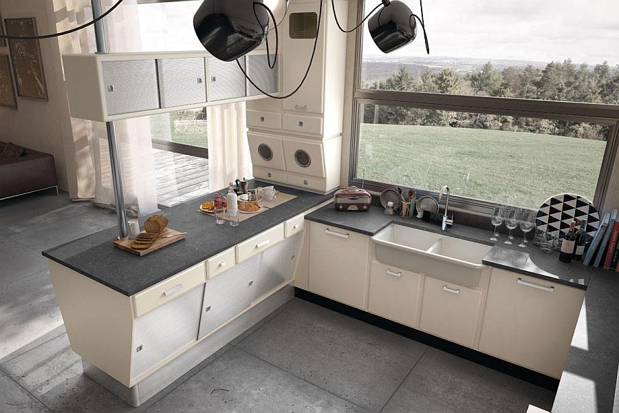 Modello di cucina vintage stile anni '50 n.07