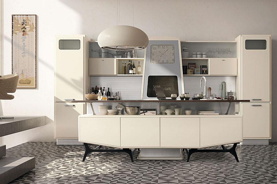 Modello di cucina vintage stile anni '50 n.08