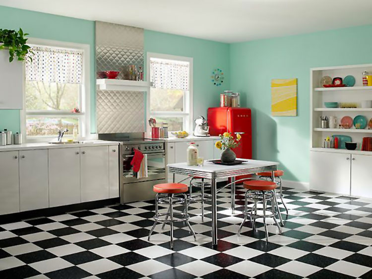 Modello di cucina vintage stile anni '50 n.10