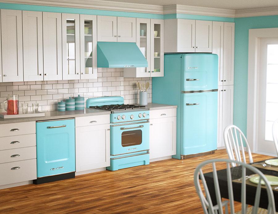 Modello di cucina vintage stile anni '50 n.11