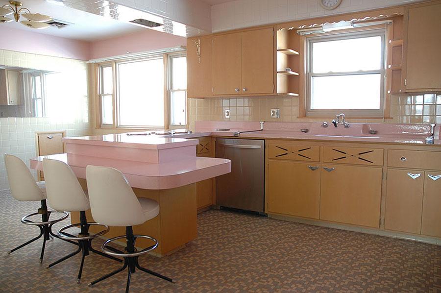 Modello di cucina vintage stile anni '50 n.13