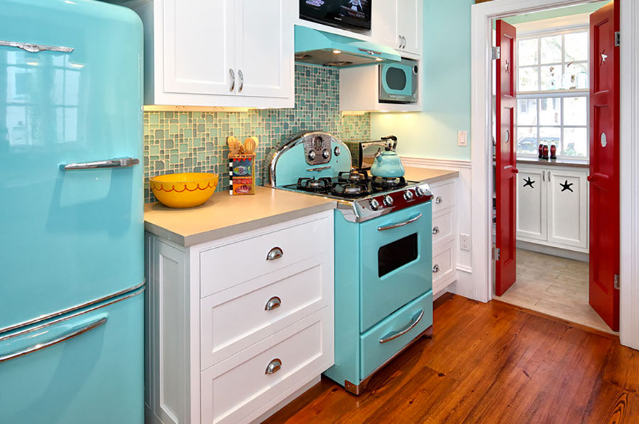 Modello di cucina vintage stile anni '50 n.14