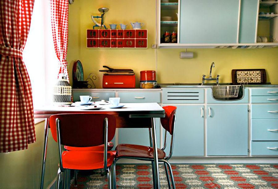 Modello di cucina vintage stile anni '50 n.15