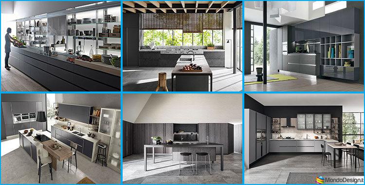 Cucine moderne grigie 22 modelli delle migliori marche - Marche cucine moderne ...