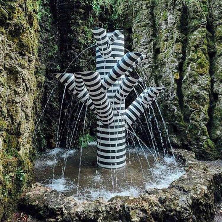 Modello di fontana da giardino moderna di design 01