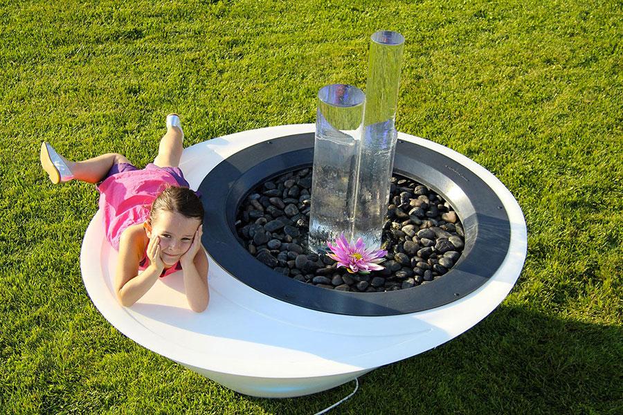 Modello di fontana da giardino di design 03