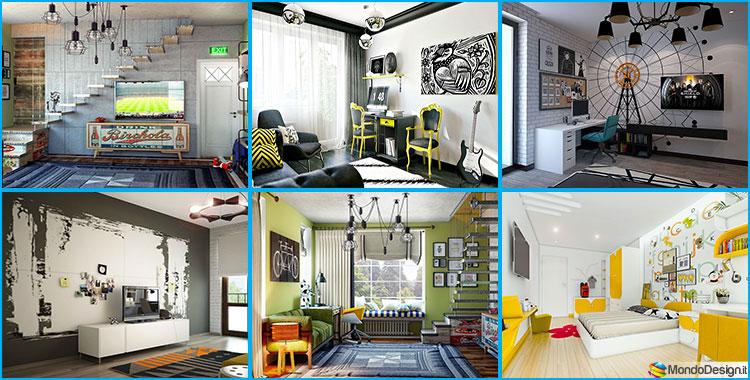 Idee originali per camerette per ragazzi in stile funky for Idee per camere