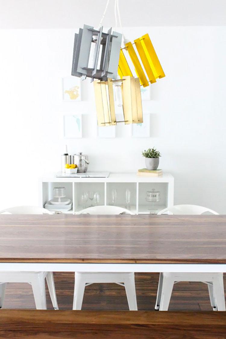Lampadari fai da te 20 idee semplici dal design originale - Lampadari colorati design ...