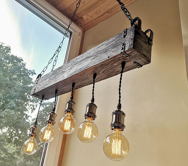 Idee lampadario rustico fai da te n.01