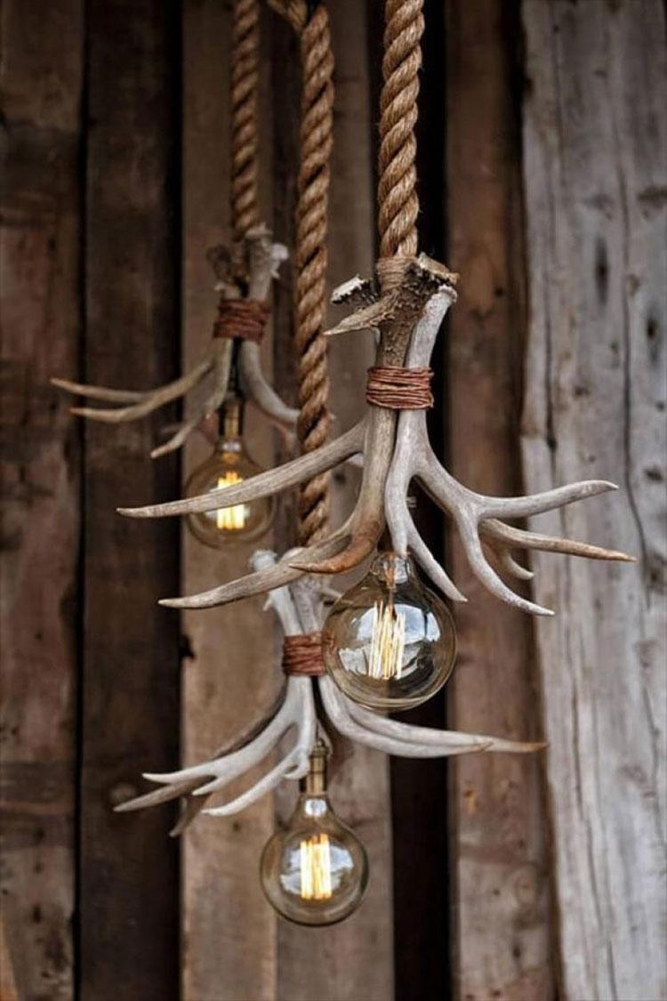 Idee lampadario rustico fai da te n.05