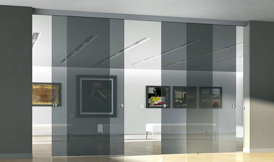 Modello di parete divisoria scorrevole in vetro per abitazioni n.02