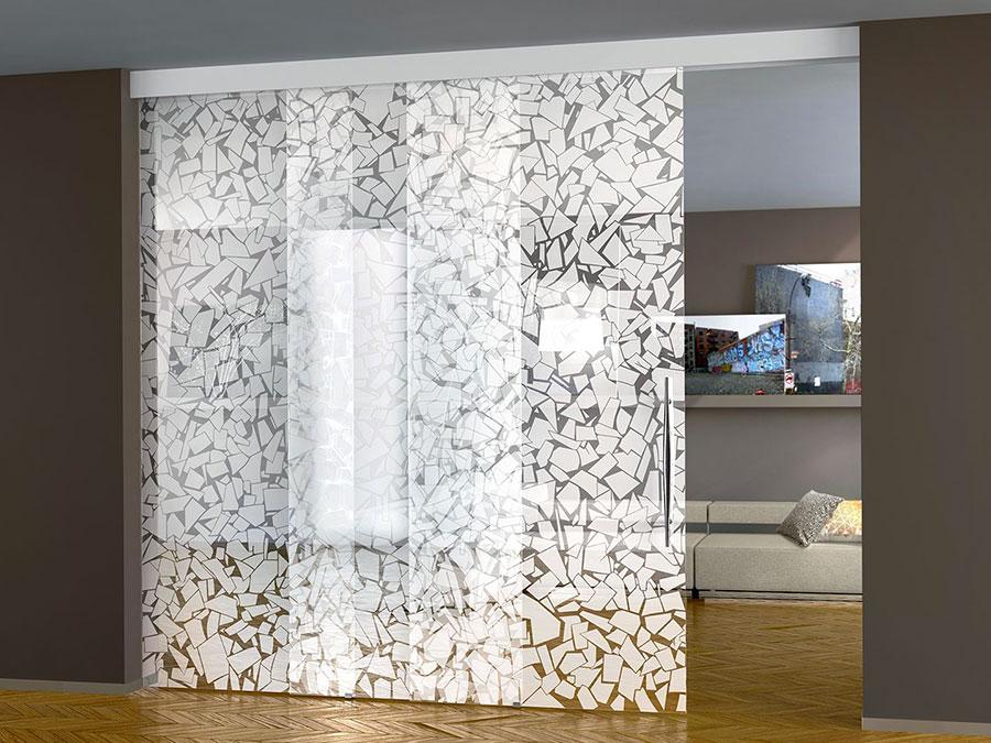 Modello di parete divisoria scorrevole in vetro per abitazioni n.05